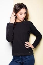 Czarna bluza z dużą kokardą na plecach