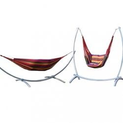 2w1 szary stelaż na hamak huśtawka + hamak + krzesło