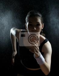 Obraz dziewczyna w sporcie