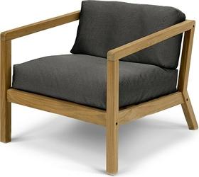 Krzesło z podłokietnikami Virkelyst czarne