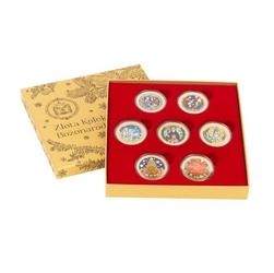 Złota kolekcja bożonarodzeniowa – 7 numizmatów pokrytych złotem