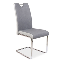 Tapicerowane krzesło na płozach do jadalni h952