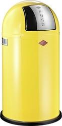 Kosz na śmieci pushboy 50l żółty