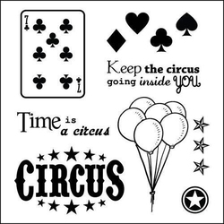 Stemple ozdobne - Vintage Circus. Cards - 13