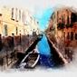 Wenecja akwarele - plakat wymiar do wyboru: 40x30 cm