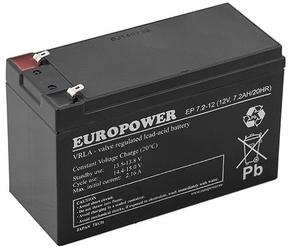 Akumulator europower serii ep 12v 7,2ah żywotność 6-9lat - szybka dostawa lub możliwość odbioru w 39 miastach