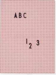 Tablica design letters a4 różowa