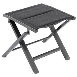 Składany stołek ogrodowy czarny aluminiowy 39x47x38 cm