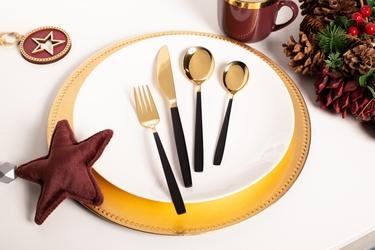 Złote sztućce ze stali nierdzewnej na 6 osób altom design noble gold 24 sztuki