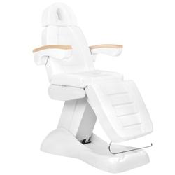 Fotel kosmetyczny elektr. lux biały  buk  3m