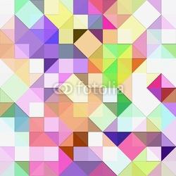 Plakat na papierze fotorealistycznym jasna pastelowa mozaika