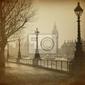 Fototapeta vintage retro picture of big ben  houses of parliament  london