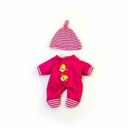 Ubranko dla lalki 21 cm różowe śpioszki z czapeczką