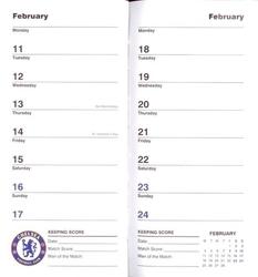 Chelsea londyn - kalendarz notes 2013