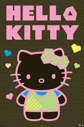 Hello kitty neon - plakat