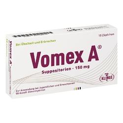 Vomex a 150 mg w czopkach