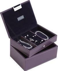 Pudełko na biżuterię podwójne mini Stackers purpurowo-fioletowe