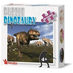 Dinozaury puzzle tekturowe 48 el.