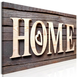 Obraz - drewniane home 1-częściowy wąski