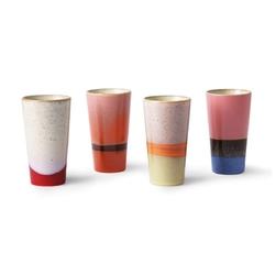 Hkliving zestaw 4 kubków ceramicznych 70s do latte ace6911