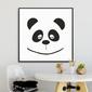 Panda face - plakat dla dzieci , wymiary - 30cm x 30cm, kolor ramki - biały