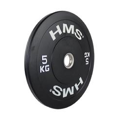 Obciążenie olimpijskie gumowane bbr05 5 kg - hms - 5 kg