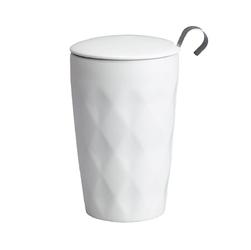 Kubek z zaparzaczem biały Crystal LUX Eigenart