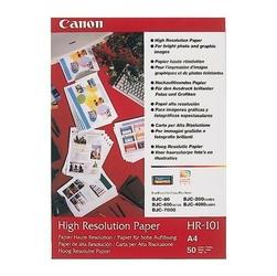 Canon High Resolution Paper, foto papier, wodoodporny, biały, A4, 106 gm2, 50 szt., HR-101 A450, atrament