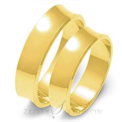Obrączki ślubne Złoty Skorpion 6 mm - O3