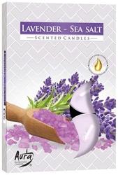 Bispol, lawenda - sól morska, podgrzewacze zapachowe, 6 sztuk