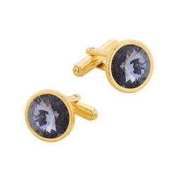 Spinki do mankietów z kryształami swarovski srebro pr. 925 014