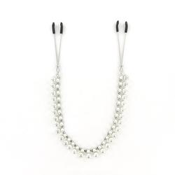 Zaciski na sutki z łańcuszkiem pereł - sportsheets midnight pearl chain nipple clips
