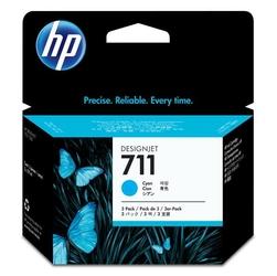 HP oryginalny ink CZ134A, No.711, cyan, 3x29ml, 3szt, HP DesignJet T120, T520