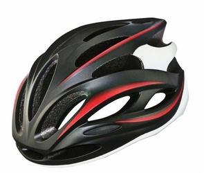 Kask rowerowy ozone rd-02 czarno-czerwony