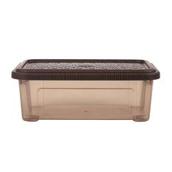 Pojemnik  organizer do przechowywania modułowy tontarelli combi box z pokrywką arianna brązowy 2,5 l