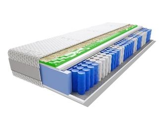 Materac kieszeniowy divali visco molet 130x170 cm średnio twardy profilowane visco memory