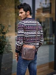Skórzana torba męska na ramię always wild bag-3 c.brąz - c. brązowy