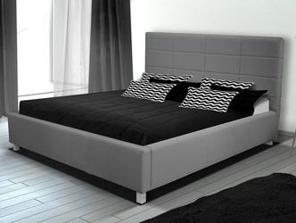 Tapicerowane łóżko do sypialni merlin 180x200