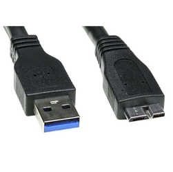 Kabel usb 3.0, usb a  m- usb micro b m, 2m, czarny, logo, blistr