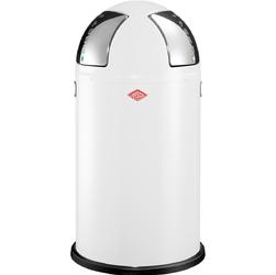 Kosz na śmieci dwukomorowy biały Push Two 50 litrów Wesco 175861-01