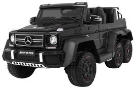 Mercedes g63 6x6 tablet mp4 czarny - dwuosobowy samochód na akumulator do 110kg