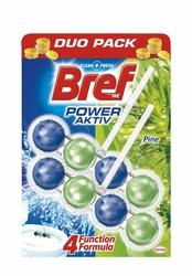 Bref Power Aktive Pine, zawieszka do toalety 50g, 2 sztuki