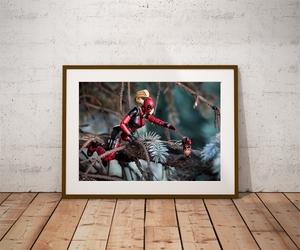 Lady deadpool i wiewiór - plakat wymiar do wyboru: 70x50 cm