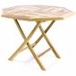 Stół ogrodowy składany 100 cm, divero