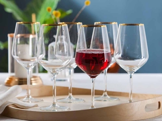 Kieliszki do wina czerwonego altom design rubin gold 530 ml komplet 6 sztuk