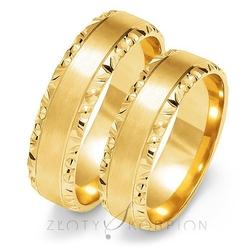 Obrączki ślubne złoty skorpion – wzór au-o106