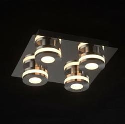 Oświetlenie sufitowe do łazienki - chromowane - 4 punkty led demarkt techno 549010704