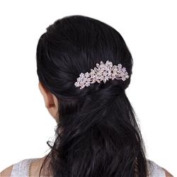 Ozdoba do włosów grzebyk ślubna kwiaty miedziana - miedziana