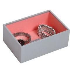 Pudełko na biżuterię open Mini Stackers szaro-koralowe