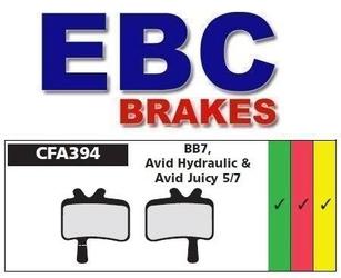 Klocki hamulcowe rowerowe spiekane ebc avid juicy, bb7